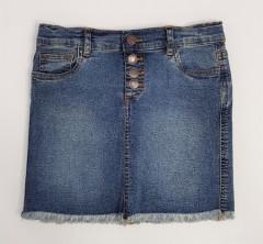 BLUE CANDY Ladies Jeans Skirt (DARK BLUE) (S - M - L - XL)