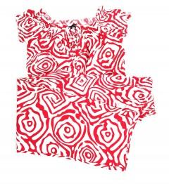 BERSHKA Ladies Turkey 2 Pcs Dress (RED-WHITE) (34 to 40)