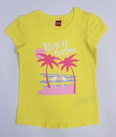 YFK Girls T-Shirt (YELLOW) (7 to 14 Years)