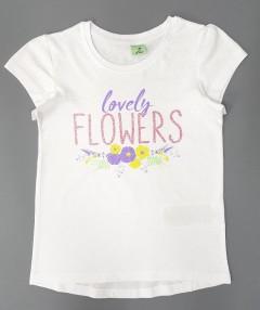 YFK Girls T-Shirt (WHITE) (7 to 12 Years)