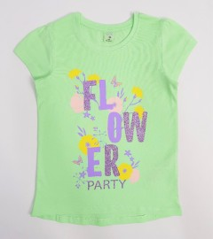 YFK Girls T-Shirt (LIGHT GREEN) (7 to 12 Years)