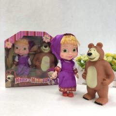 2 PCS Dolls Toys (AS PHOTO) (ONE SIZE)
