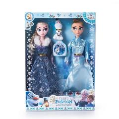 3 pcs/set Princess frozen 2 Anna Elsa Dolls with box For Girls Toys Princess (NAVY - BLUE) (ONE SIZE)