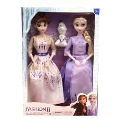 3 pcs/set Princess frozen 2 Anna Elsa Dolls with box For Girls Toys Princess (LIGHT PINK - PURPLE) (ONE SIZE)