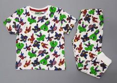 NEXT Boys 2 Pcs Pyjama Set (WHITE - GREEN) (2 to 8 Years)