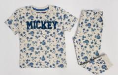NEXT Boys 2 Pcs Pyjama Set (CREAM - BLUE) (2 to 8 Years)