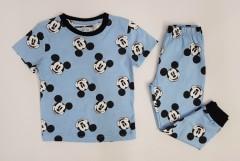 NEXT Boys 2 Pcs Pyjama Set (LIGHT BLUE - BLACK) (2 to 10 Years)