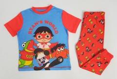 RYANS WORLD Boys 2 Pcs Pyjama Set (BLUE - RED) (2 to 7 Years)