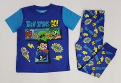 Boys 2 Pcs Pyjama Set (BLUE) (6 to 12 Years)