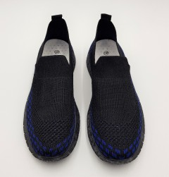 F.T.W Mens Shoes (BLACK - BLUE) (40 to 45)
