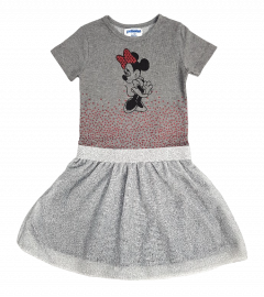 PEBBLES Girls Frock (GRAY) (2 To 8 Years)
