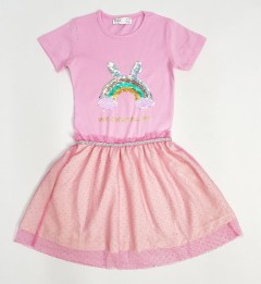 M AND S Girls Frock (PINK) (4 To 8 Years)