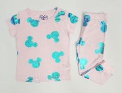 Girls 2 Pcs Pyjama Set (LIGHT PINK - BLUE) (2 to 8 Years)
