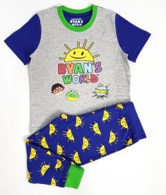 RYANS WORLD Boys 2 Pcs Pyjama Set ( BLUE - GRAY) (3 to 8 Years)