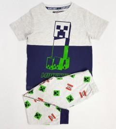 MOJANG Boys 2 Pcs Pyjama Set (LIGHT GRAY - NAVY ) (5 to 13 Years)