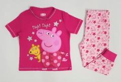 PEPPA PIG Girls 2 Pcs Pyjama Set (PINK) (18 Months to 7 Years)