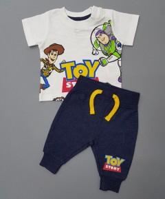 DISNEY Boys 2 Pcs Pyjama Set (WHITE - BLACK) (0 to 24  Month)