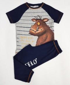 DER GROFFELO Boys 2 Pcs Pyjama Set ( BLACK - GRAY ) (98 to 128 CM)