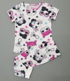 UNCREDIBLE GARGEOUS Girls 2 Pcs Pyjama Set (PINK - WHITE) (2 to 8 Years)