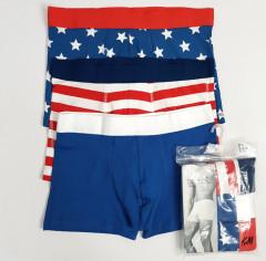 H AND M 3 Pce Mens Boxer Shorts Pack (Random Color) (M - L - XL)