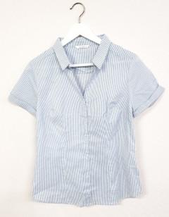 CAMAIEU Ladies Shirt (WHITE - GRAY) (S - M - L - XL )