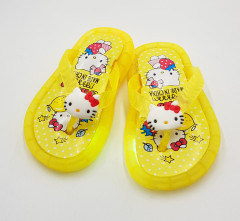 HELLO KITTY Girls Slippers ( YELLOW ) (24 to 29)