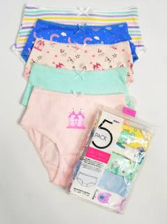 MAX 5 Pcs Girls Briefs Pack (RANDOM COLOR) (2 to 16 Years)