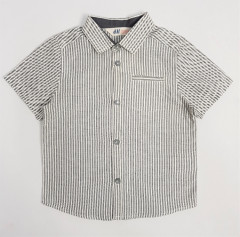 H AND M Boys Shirt (GRAY - WHITE) (92 to 140 CM)