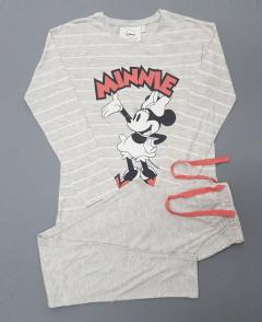 DISNEY Ladies 2 Pcs Pyjama Set ( GRAY ) ( S - M - L - XL )