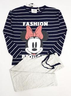 DISNEY Ladies 2 Pce Pyjama Set ( BLACK - GRAY ) ( XS - S - M - L - XL )