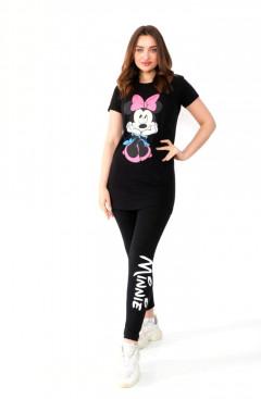 MINNIE Ladies Turkey 2 Pcs Pyjama Set (BLACK) (S - M - L - XL)