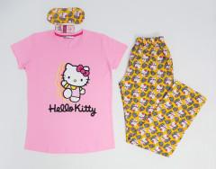 CLM HOME WEAR Ladies Turkey 3 Pcs Pyjama Set (PINK - YELLOW) (S - M - L - XL)