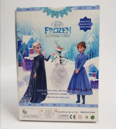 3 pcs set Princess frozen Anna Elsa Dolls (NAVY - BLUE)