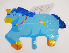 Balloon With Unicorn Design (BLUE) (Os)