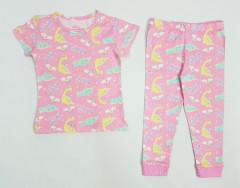 Girls 2 Pcs Pyjama Set (PINK) (2 to 6 Years)