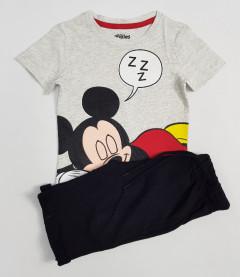 PEBBLES Boys 2 Pcs T-Shirt & Shorty Set ( GRAY - BLACK) ( 2 to 10 Years)