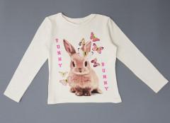 Girls Long Sleeved Shirt ( CREAM ) (92 to 140 CM)