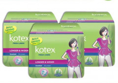 Kotex Fresh Liner Longer & Wider Aloe Vera Pantyliner 16S