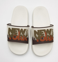 Mens Slippers (WHITE - BROWN) (40 to 45)