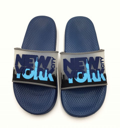 Mens Slippers (BLACK - BLUE) (40 to 45)