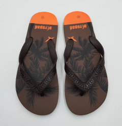 AEROPAD Mens Slippers (BROWN) (40 to 45)