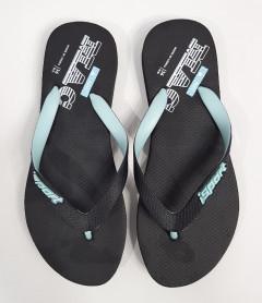 ISPORT Ladies Slippers ( BLACK  - LIGHT BLUE) (36 to 41)