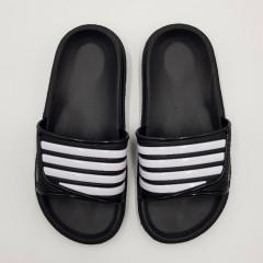 SPORT Girls Slippers (BLACK - WHITE) (30 to 35)