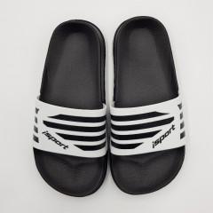 ISPORT Girls Slippers (BLACK - WHITE) (33)