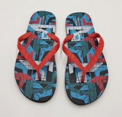 WATER FISH Mens Slippers (BLUE - RED) (40 to 45)