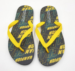 Mens Slippers ( YELLOW - BLACK ) (40 to 45)