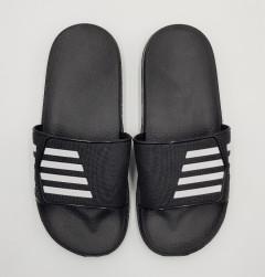 Mens Slippers (BLACK - WHITE) (40 to 45)