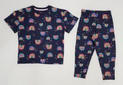 Girls 2 Pcs Pyjama Set (NAVY) (4 to 12 Years)