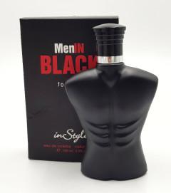 INSTYLE Menln Black for Men Eau De Toilette Natural Spray 100 ML (GM)