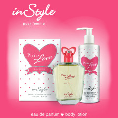 INSTYLE Pure love for women coffret set (edp 100ml + 250ml body lotion) (GM)